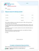 Patient Vaccine Notification Letter