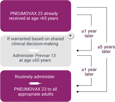 Sequential Administration of PNEUMOVAX®23 (Pneumococcal Vaccine Polyvalent) for Persons who Previously Received PNEUMOVAX 23 Before Age 65 Who Are Now Aged ≥65 years