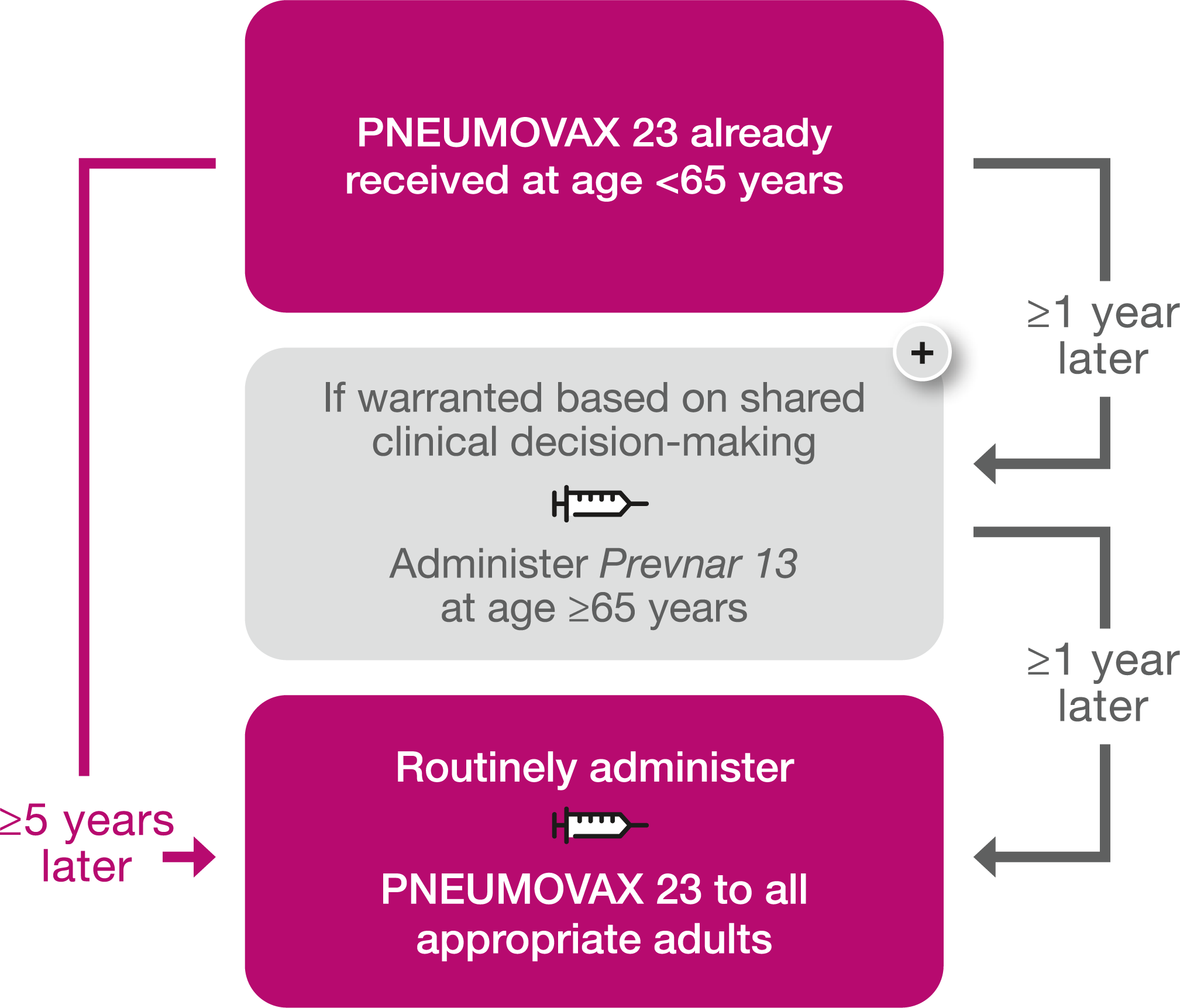 Pneumococcal Vaccine for Ages 65+   CDC Recommendations
