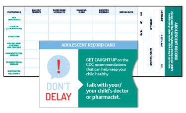Wallet-Sized Adolescent Record Card and Envelope