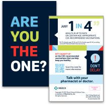 2-Sided Bookmark Featuring QR Code With Link to CDC Home Page for Patient Convenience