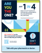 Wall Sign Featuring QR Code With Link to Centers for Disease Control and Prevention (CDC) Home Page